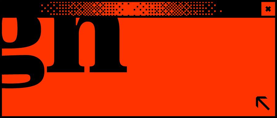 Rotes Browserfenster mit dem Wortabschnitt gn in der Mitte