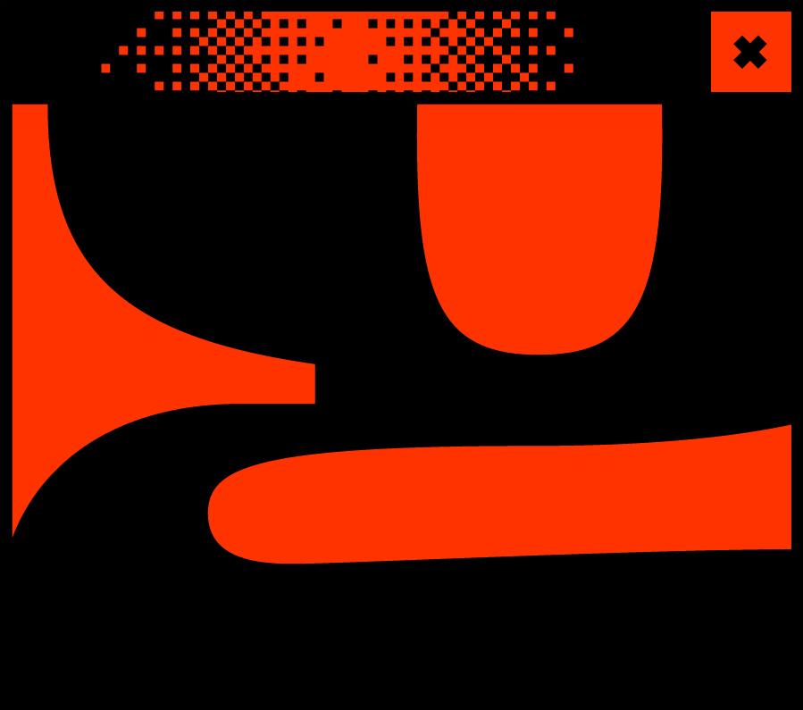 Rotes Browserfenster mit dem Buchstaben g in der Mitte