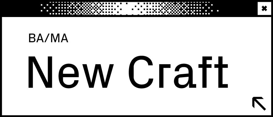Weißes Browserfenster mit Wortabschnitt New Craft in der Mitte