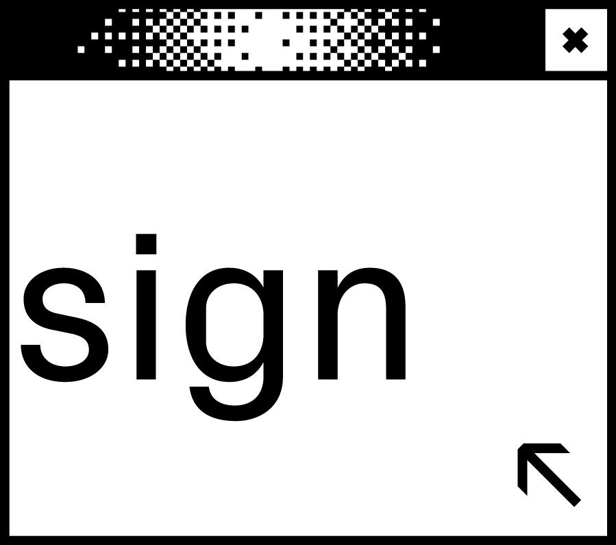 Weißes Browserfenster mit Wortabschnitt sign in der Mitte