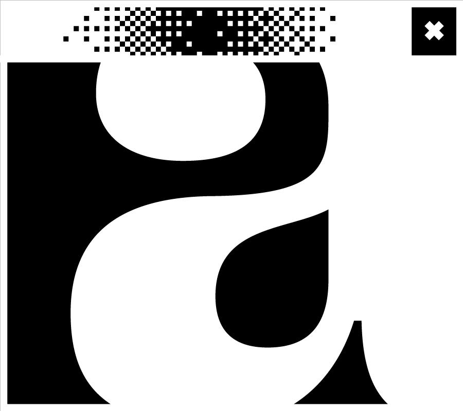 Bildschirmfenster mit dem Buchstaben a in der Mitte