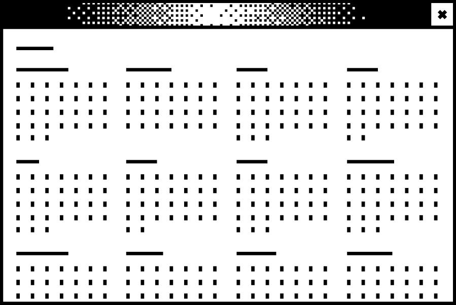 Bildschirmfenster mit einer abstrahierten Jahresansicht eines Kalenders